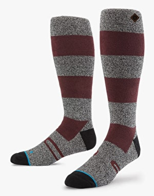 Stance Girdwood 2016 Snowboard Socks - Burgundy