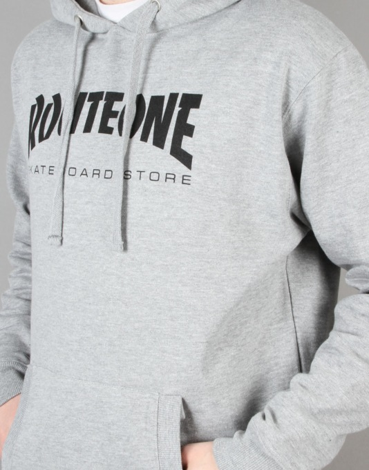 Route One Skate Store Pullover Hoodie - Grey