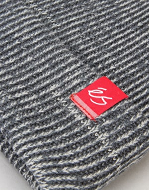 éS Block Beanie - Grey Heather