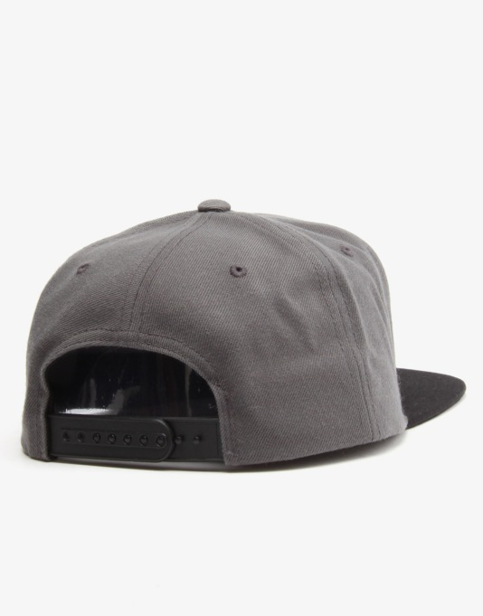 The Hundreds Nation Snapback Cap - Charcoal