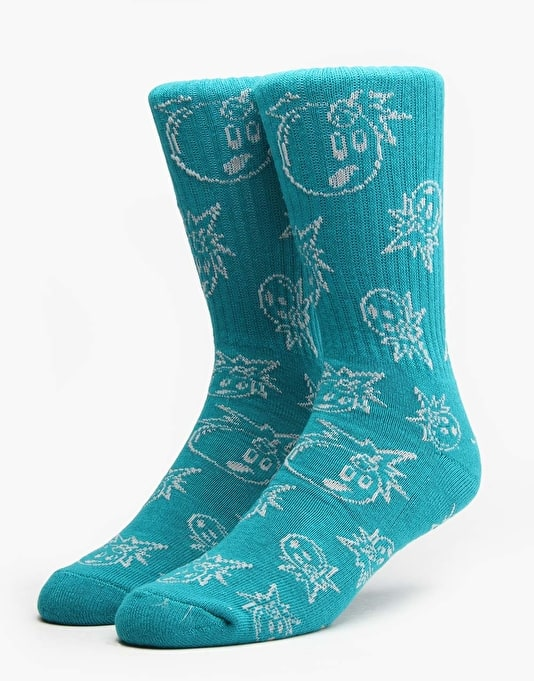 The Hundreds Outtie Socks - Turquoise