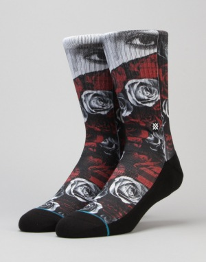 Stance Blocked Classic Crew Socks - Red