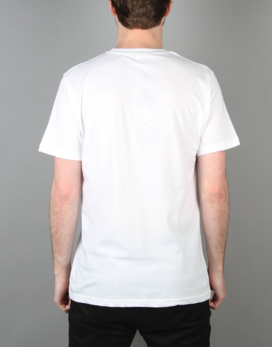 Hype Monotone Circle T-Shirt - White
