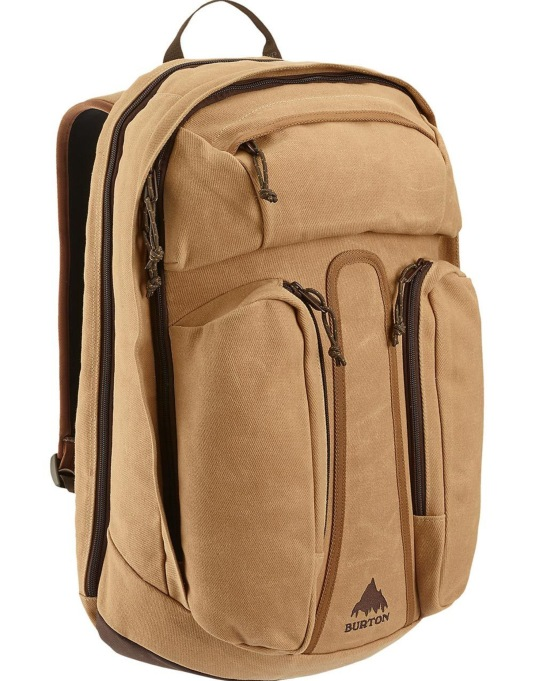 Burton Curbshark Backpack - Beagle Brown Waxed Canvas