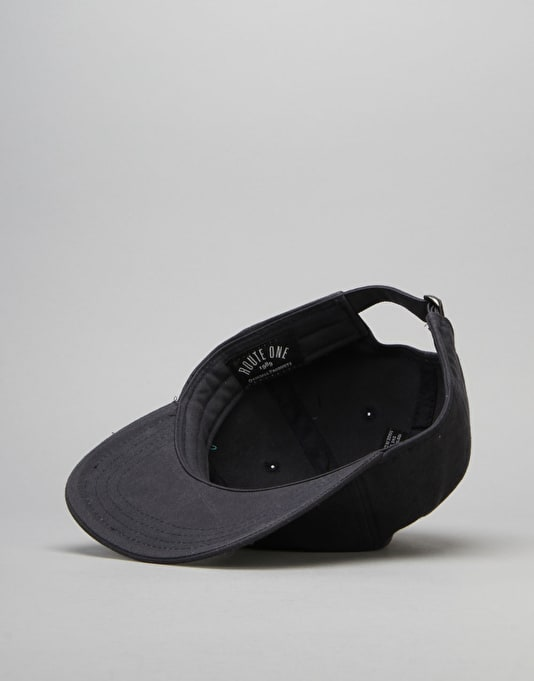 Route One Analogue 6 Panel Unstructured Cap - Navy
