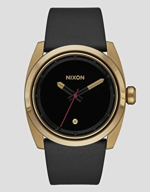 Nixon Kingpin Leather Watch - Gold/Black