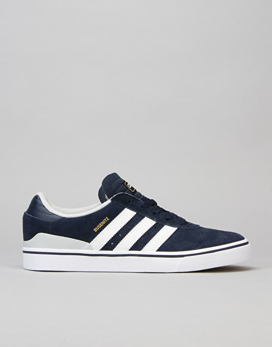 Adidas Busenitz Vulc ADV Skate Shoes - Collegiate Navy/LGH Solid Grey