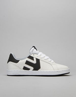 Etnies Fader LS Skate Shoes - White/Grey/Grey