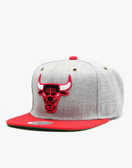 Mitchell & Ness NBA Chicago Bulls Heather Wool Snapback Cap - Heather
