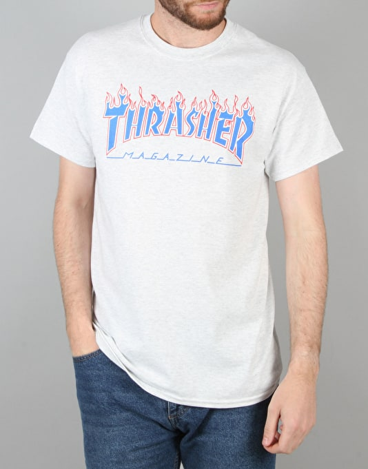 Thrasher Patriot T-Shirt - Ash Grey