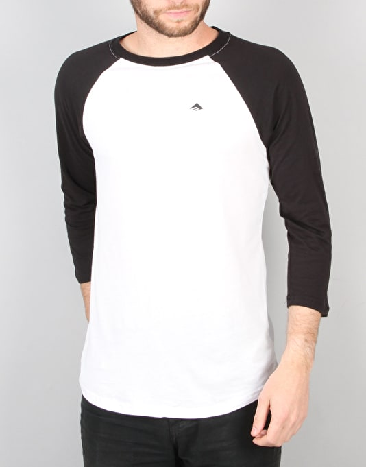 Emerica Simulous Raglan T-Shirt - Black/White