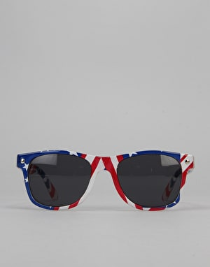 Glassy Sunhater Leonard Sunglasses - Flag