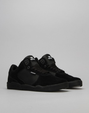 Supra Ellington Skate Shoes - Black/Black/Black