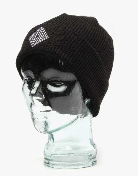 The National Skateboard Co. Logo Beanie - Black
