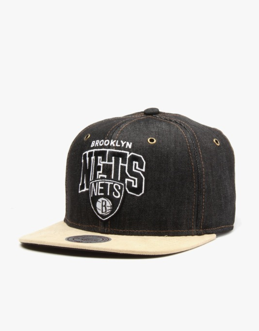 Mitchell & Ness NBA Brookyln Nets Denarch Snapback Cap - Denim
