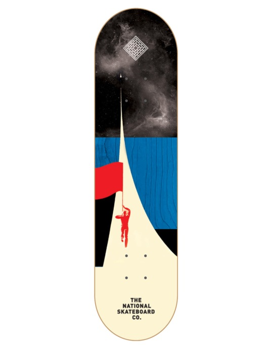 The National Skateboard Co. Astro Team Deck - 8.25""