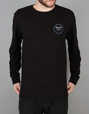 Brixton Wheeler II L/S T-Shirt - Black/Blue
