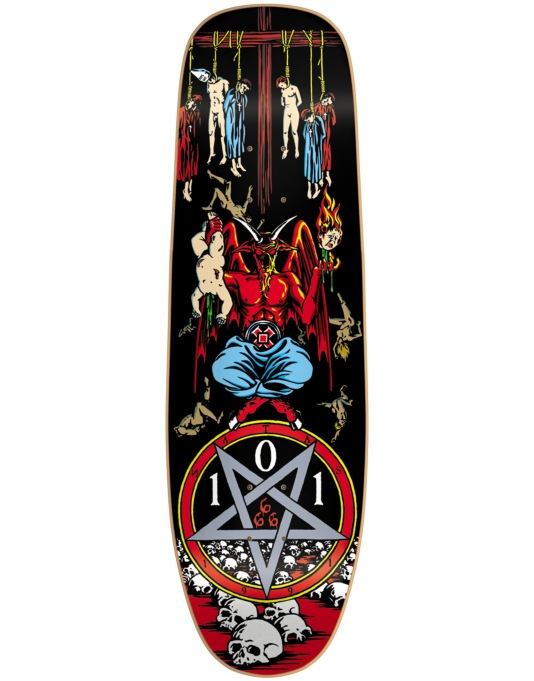 101 Natas Devil Worship Silkscreened Ltd Edition Pro Deck - 9.5""