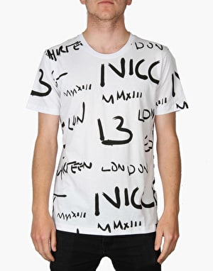 Nicce Writter T-Shirt - White