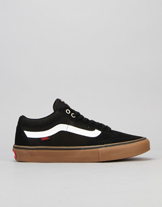 Vans TNT SG Pro Skate Shoes - Black/White/Gum