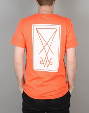 Welcome Symbol T-Shirt - Coral/White