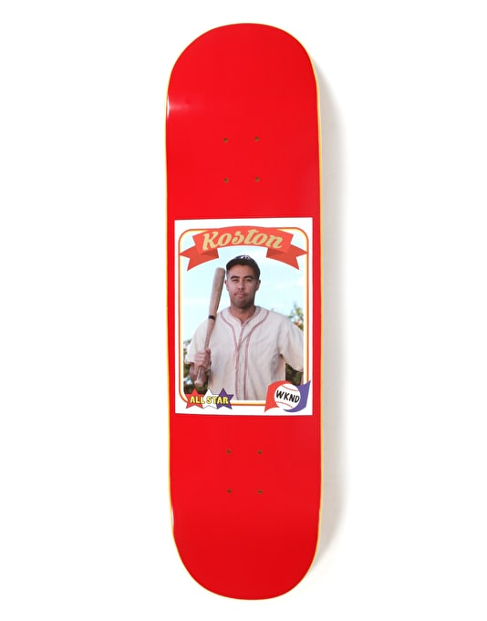 WKND Koston Trading Card Guest Skateboard Deck - 8.25""