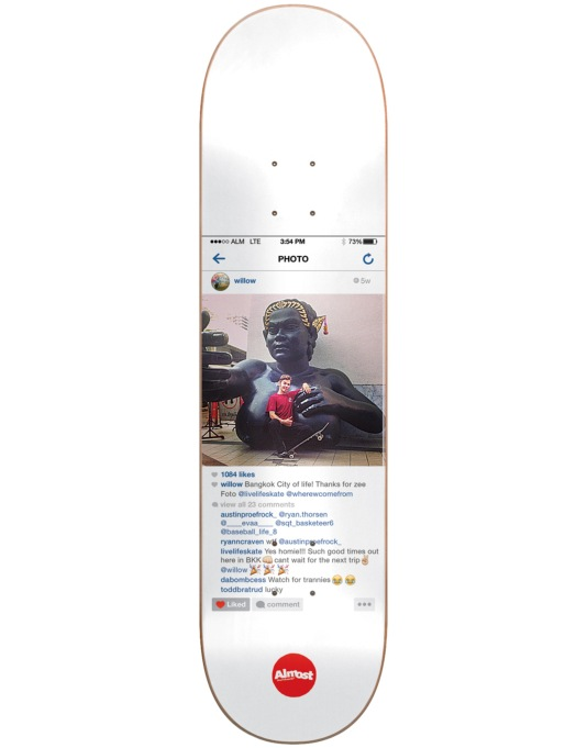 Almost Willow Insta Gold Impact Light Pro Deck - 8""