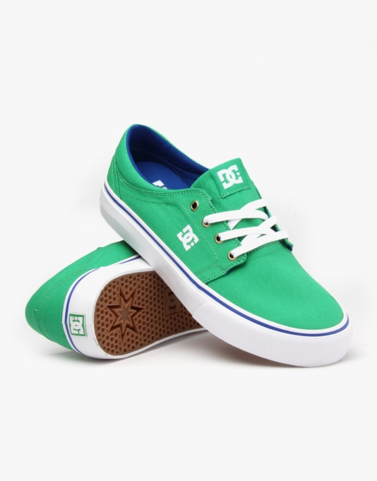 DC Trase TX Skate Shoes - Fern
