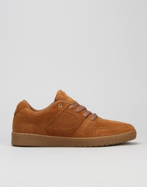 éS Accel Slim Skate Shoes - Brown Gum