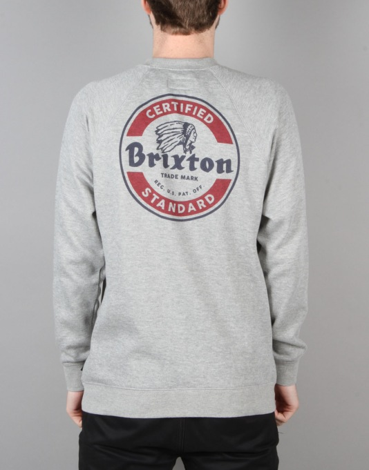Brixton Soto Crew Fleece - Heather Grey