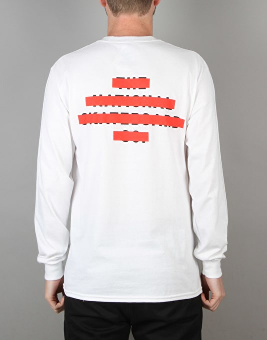 The National Skateboard Co. Redacted L/S T-Shirt - White