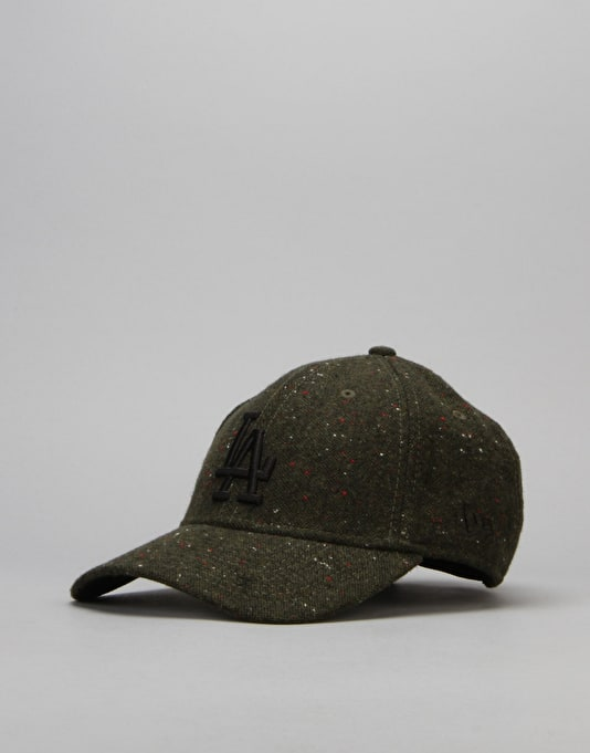 New Era MLB Los Angeles Dodgers Fleck Tweed Cap - Dark Green