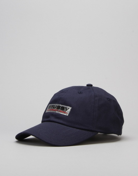 Stüssy Clear Patch Strapback Cap - Navy