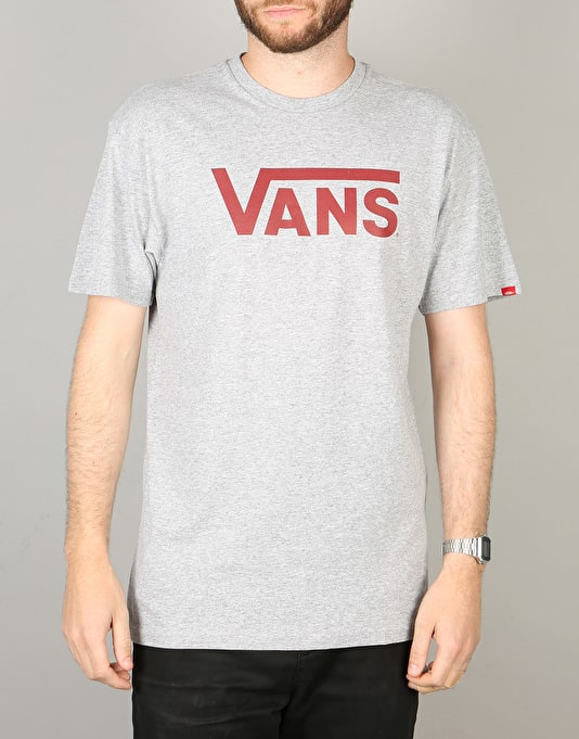 Vans Classic T-Shirt - Athletic Heather/Red Dahlia