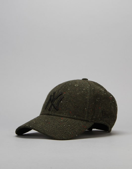 New Era MLB New York Yankees Fleck Tweed Cap - Dark Green