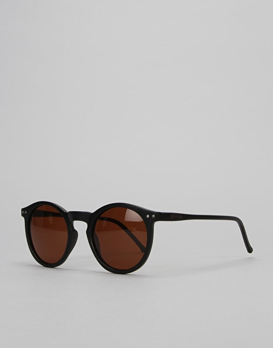 Glassy Sunhater Tim Tim Sunglasses - Matte Black/Brown Lens