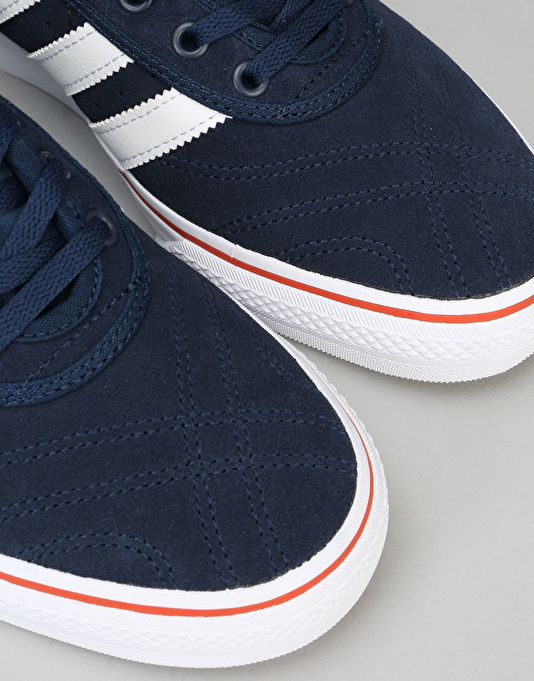 Adidas Adi-Ease Premiere ADV Skate Shoes - Collegiate Navy/White/Craft ChilI