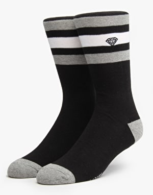 Diamond Supply Co. 3-Pack Stripe Socks - Black
