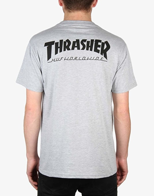 HUF x Thrasher Classic H T-Shirt - Grey Heather
