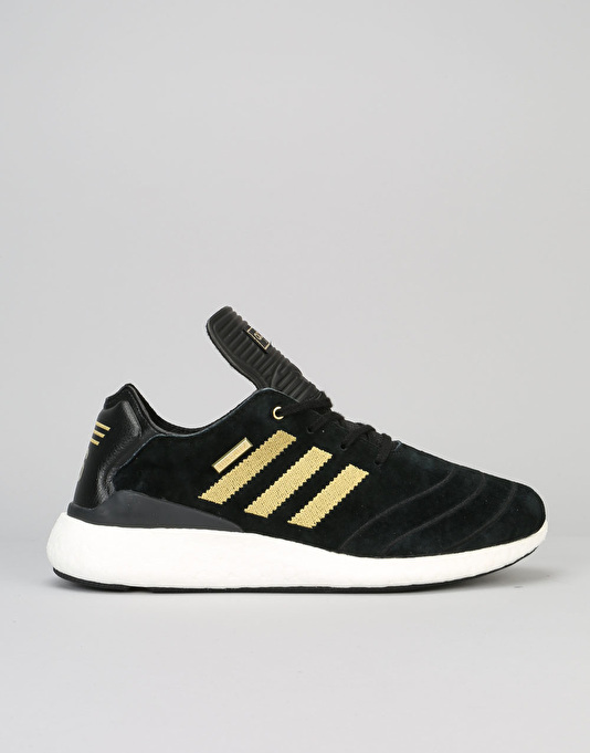 buy online 15488 e6ca0 Adidas Busenitz Pure Boost 10 Yr Anniversary Skate Shoes - BLKGLDWHI  Skate  Shoes  Mens Skateboarding Trainers  Footwear  Route One