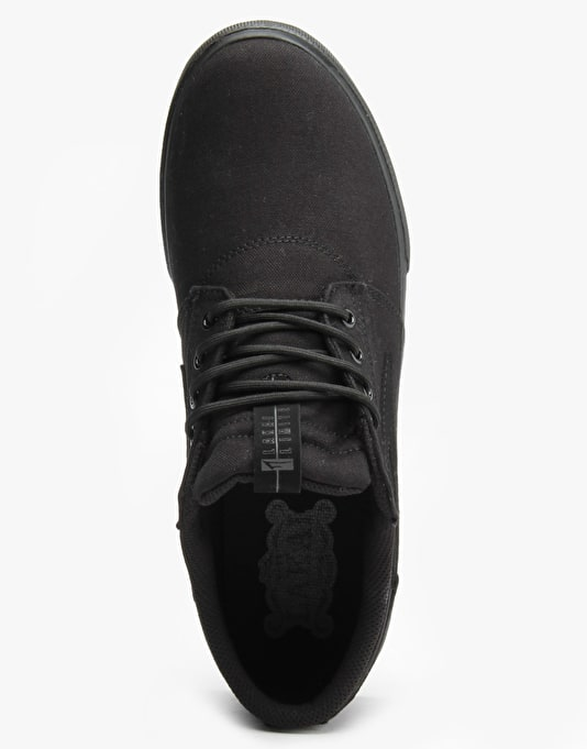 Lakai Griffin Skate Shoes - Black/Black Canvas