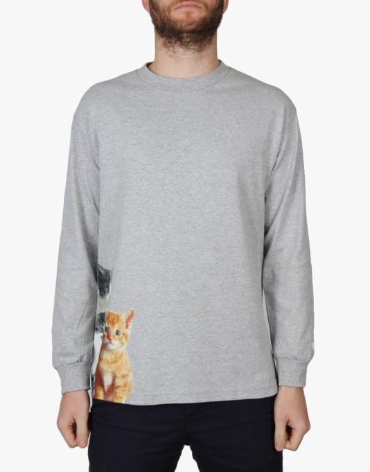 Enjoi Kitten Dream L/S T-Shirt - Athletic Heather