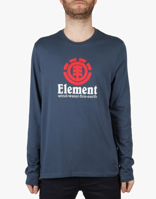 Element Vertical L/S T-Shirt - Dark Denim