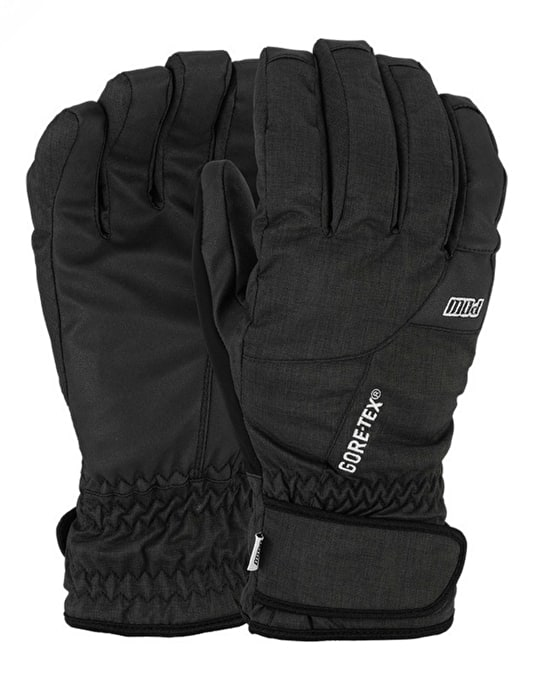 Pow Warner GTX Short 2016 Snowboard Gloves - Black