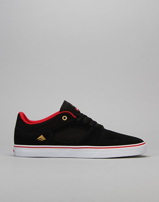 Emerica x Chocolate Hsu Low Vulc Skate Shoes - Black/Red/White