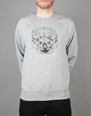Scarred For Life Cat Sweatshirt - Heather Grey