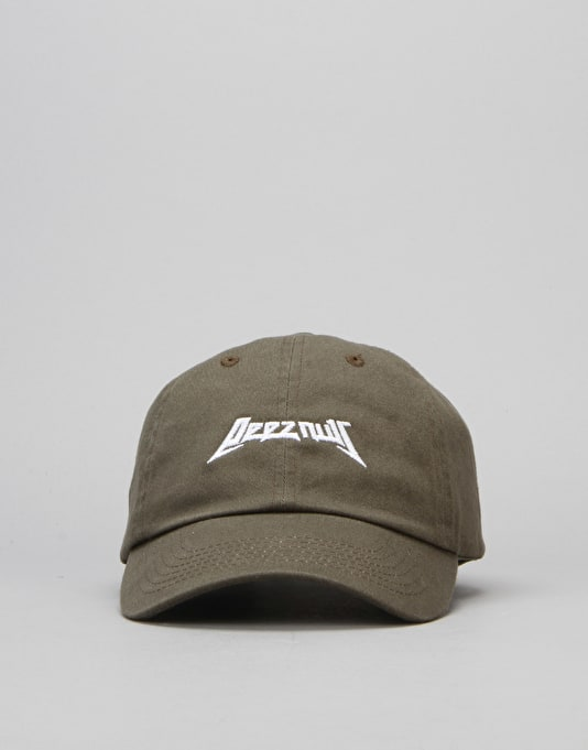 40's & Shorties Deez Nuts Unstructured Strapback Cap - Olive