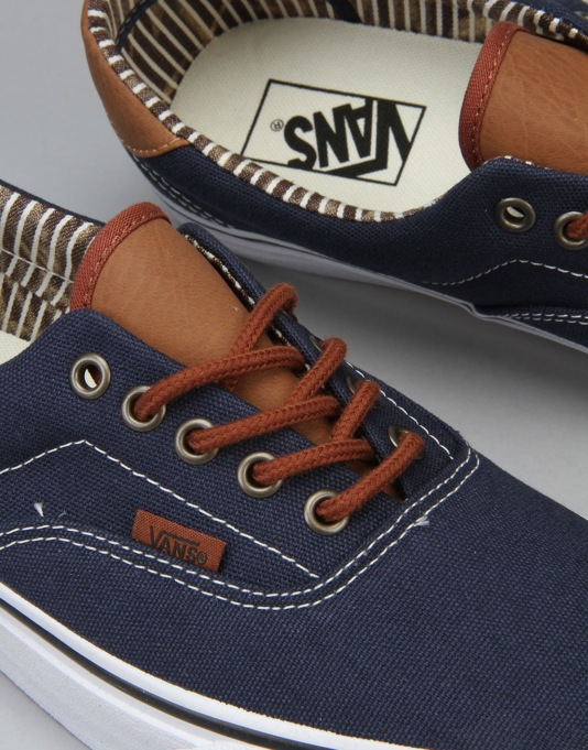 Vans Era 59 Skate Shoes - (C&L) Dress Blues/Stripe Denim