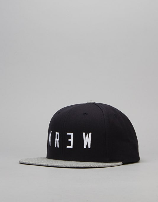 Kr3w Locker 2 Snapback Cap - Navy/Grey