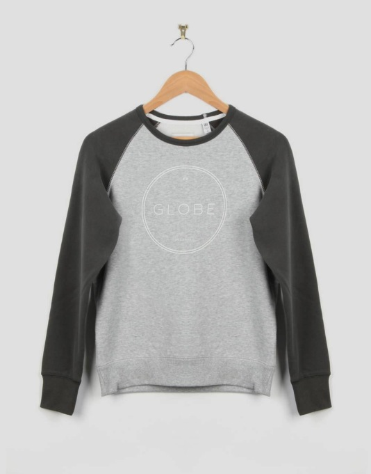 Globe Windsor Boys Crew Sweatshirt - Grey Marle